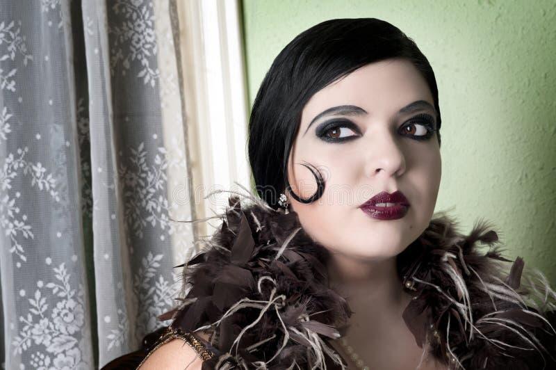 De Vrouw van het art deco stock fotografie