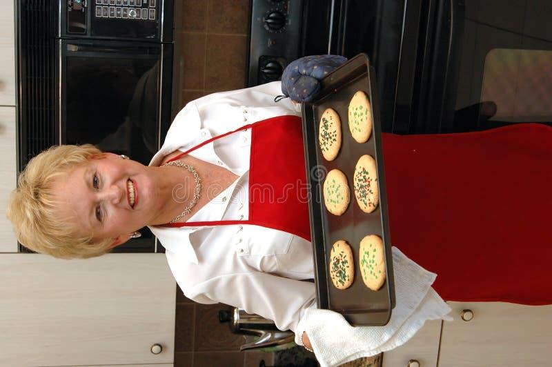 De vrouw van het baksel royalty-vrije stock afbeelding