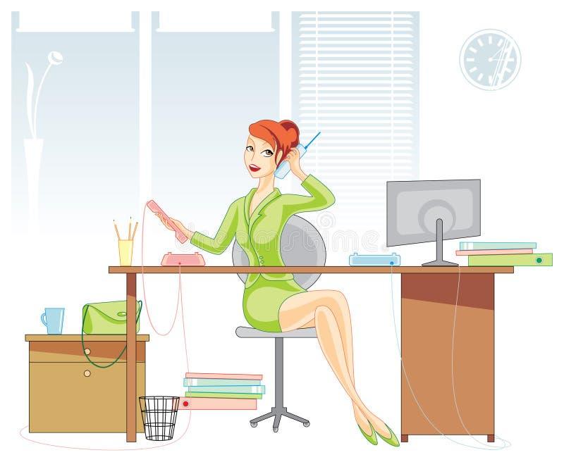 De vrouw van het bureau vector illustratie