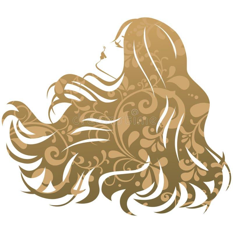 De vrouw van het de salonsilhouet van de schoonheidsbehandeling royalty-vrije illustratie