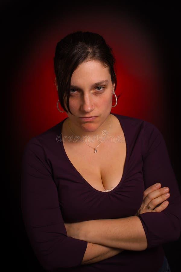 De vrouw van het huis met PMS royalty-vrije stock foto's