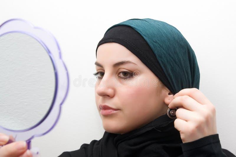 De vrouw van het mohammedanisme royalty-vrije stock foto's