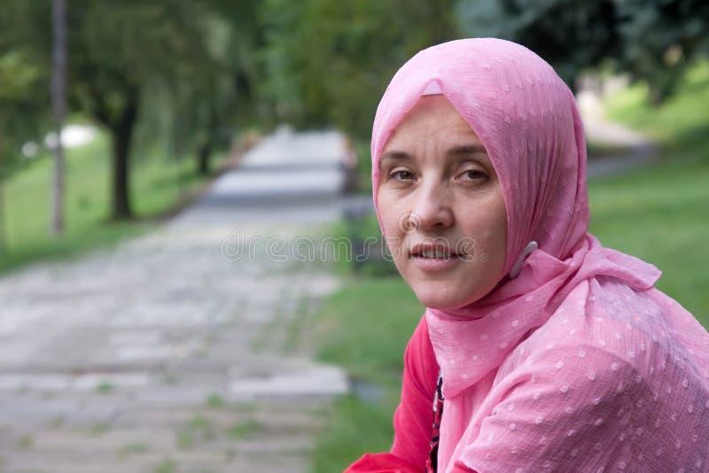 De vrouw van het mohammedanisme stock afbeeldingen