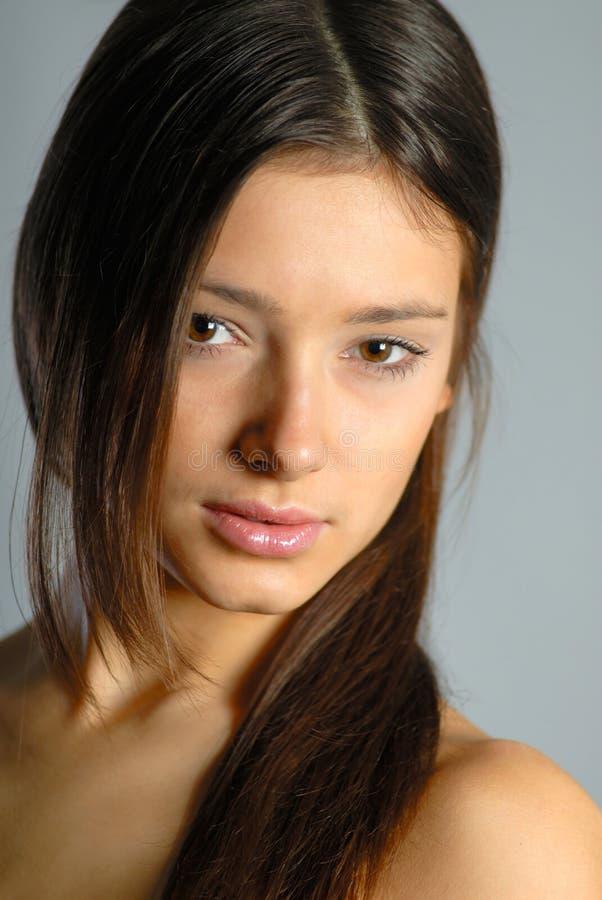 De vrouw van het portret stock foto's