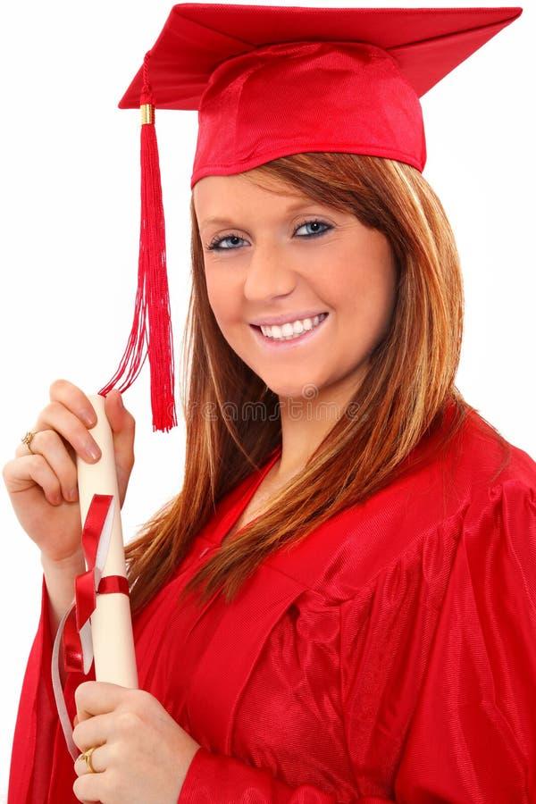 De Vrouw van het Portret van de graduatie stock foto's
