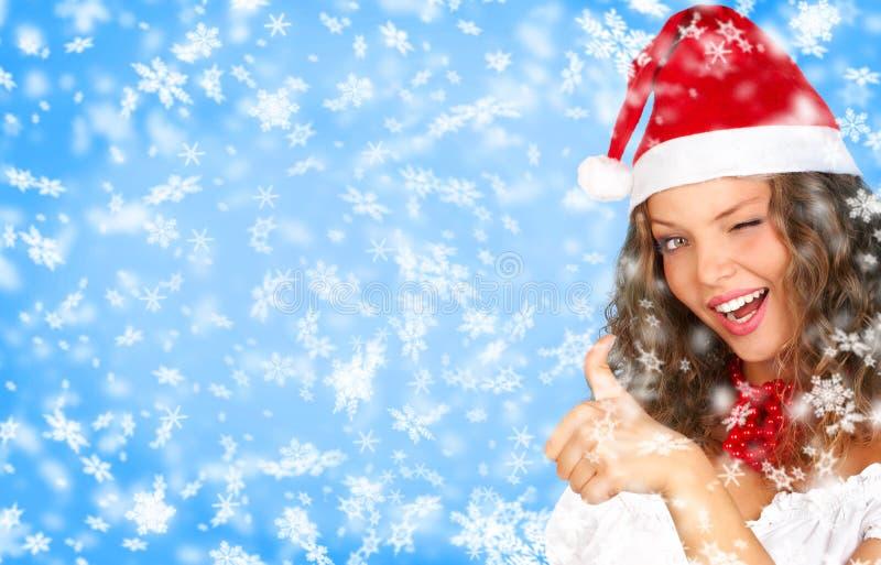De vrouw van Kerstmis stock foto