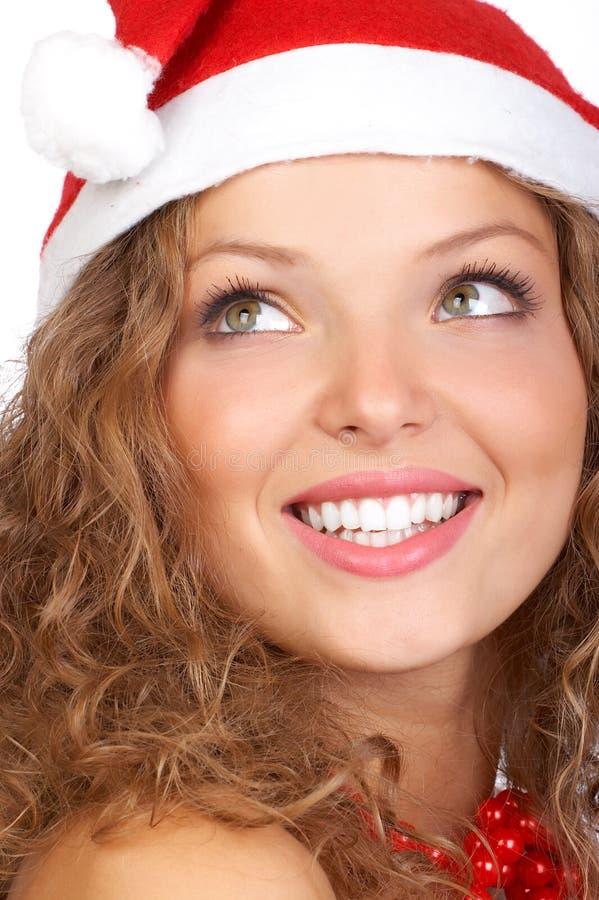 De vrouw van Kerstmis stock afbeeldingen