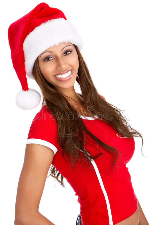 De vrouw van Kerstmis royalty-vrije stock foto's