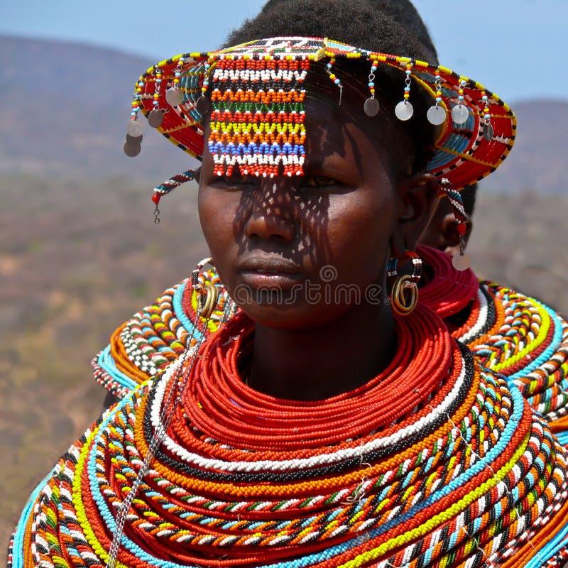 De Vrouw van Maasai stock afbeeldingen