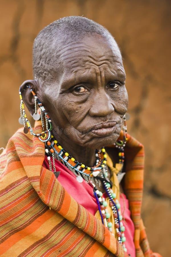 De Vrouw van Masai royalty-vrije stock foto's