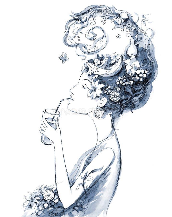 De vrouw van Nautilus vector illustratie