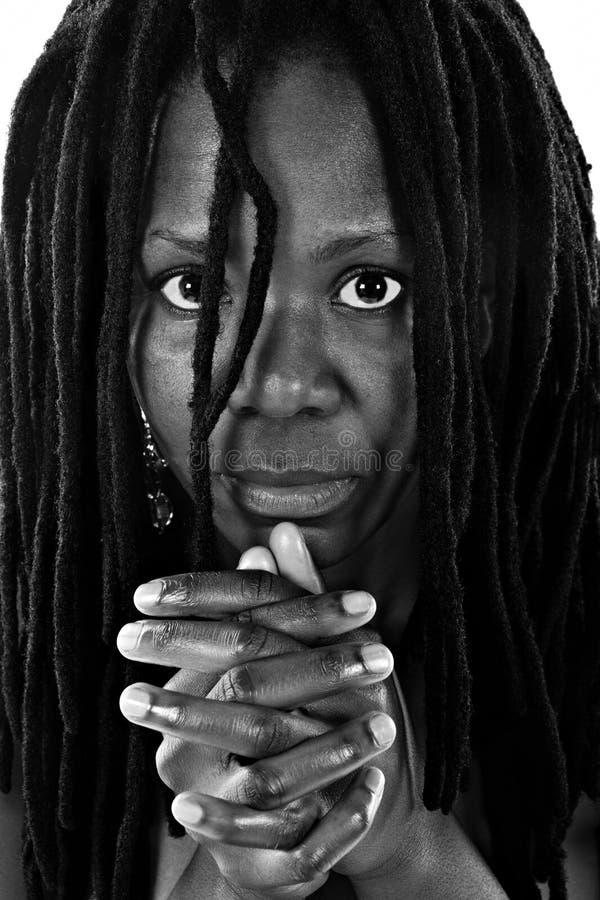 De vrouw van Rastafarian royalty-vrije stock fotografie