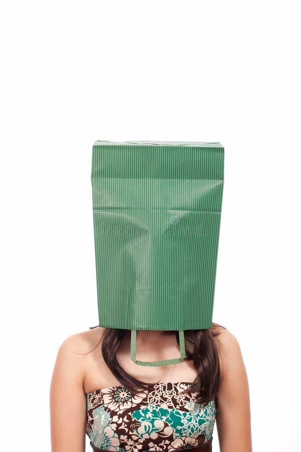 De vrouw van Shopaholic stock afbeelding
