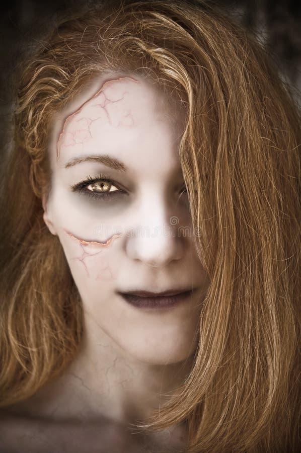 De vrouw van Undead. royalty-vrije stock afbeelding