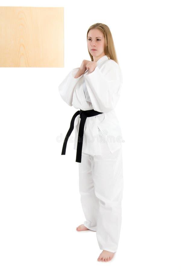 Vechtsportenvrouw royalty-vrije stock fotografie
