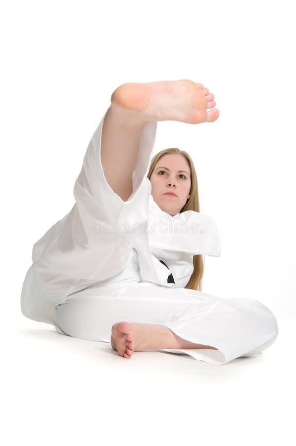 De Vrouw van vechtsporten royalty-vrije stock afbeelding
