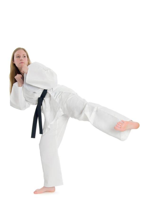 De Vrouw van vechtsporten stock afbeelding