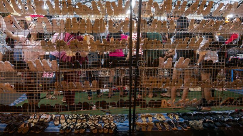 De vrouw verkoos om Schoenen te kopen stock foto