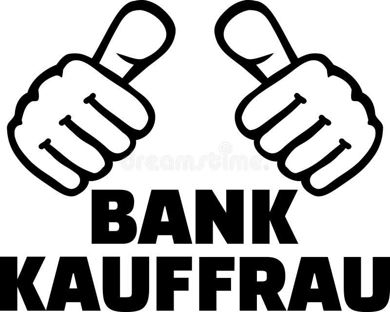 Download De Vrouwelijke Bankier Beduimelt Het Duits Vector Illustratie - Illustratie bestaande uit beroep, zakenman: 114225854