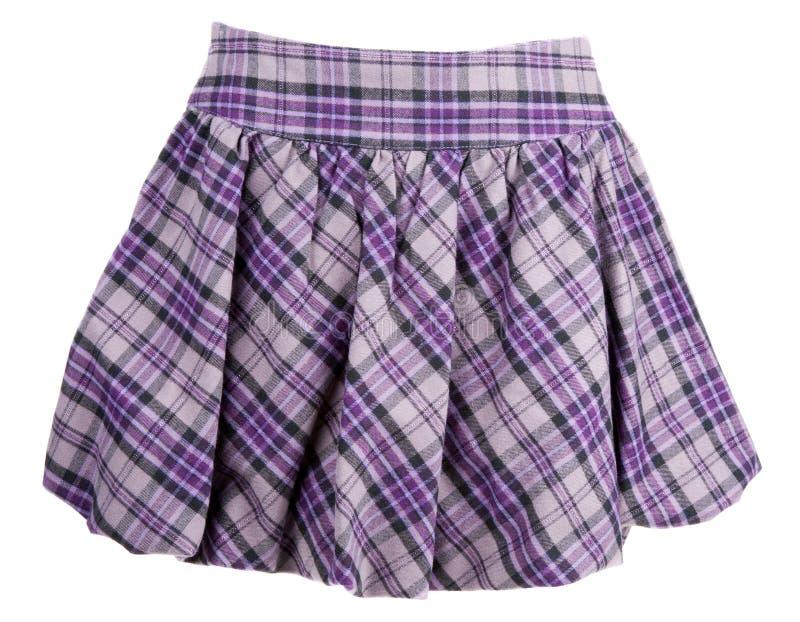 De vrouwelijke rok van de plaid stock afbeelding
