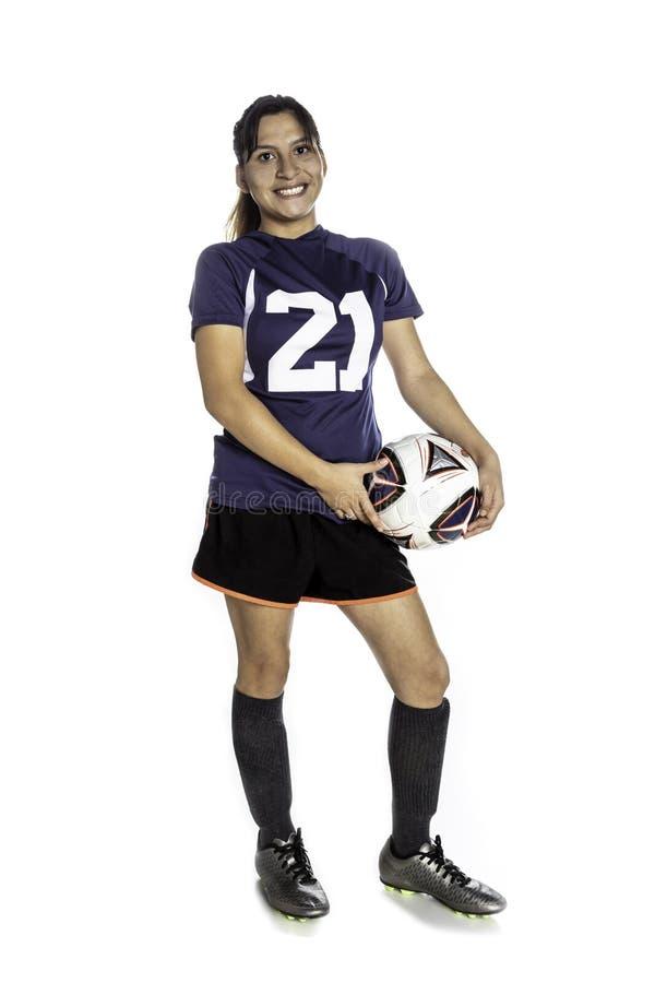 De vrouwelijke Voetballer van Latina stock fotografie