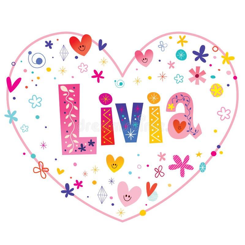 De vrouwelijke voornaam van Livia royalty-vrije illustratie