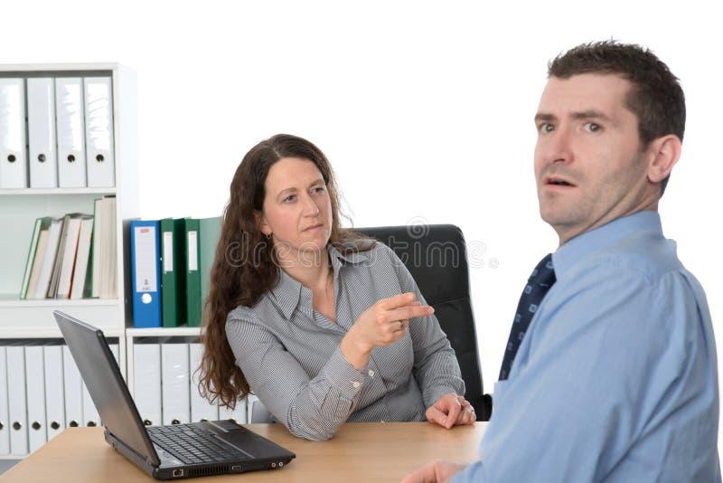 De vrouwelijke werkgever is boos royalty-vrije stock foto