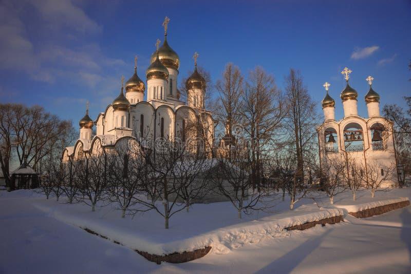 De Vrouwen` s Klooster van Svyatonikolsky Pereslavl in Pereslavl Zalessk royalty-vrije stock foto