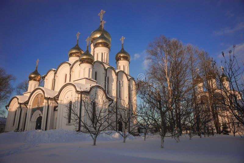 De Vrouwen` s Klooster van Svyatonikolsky Pereslavl in Pereslavl Zalessk royalty-vrije stock afbeelding