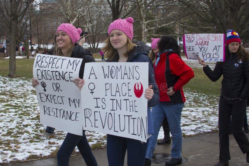 De Vrouwen ` s Maart 2018 van Hartford royalty-vrije stock afbeeldingen