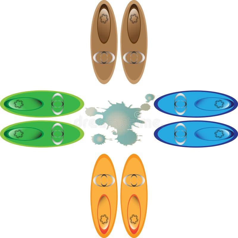 De vrouwen` s schoenen zijn levendig stock illustratie