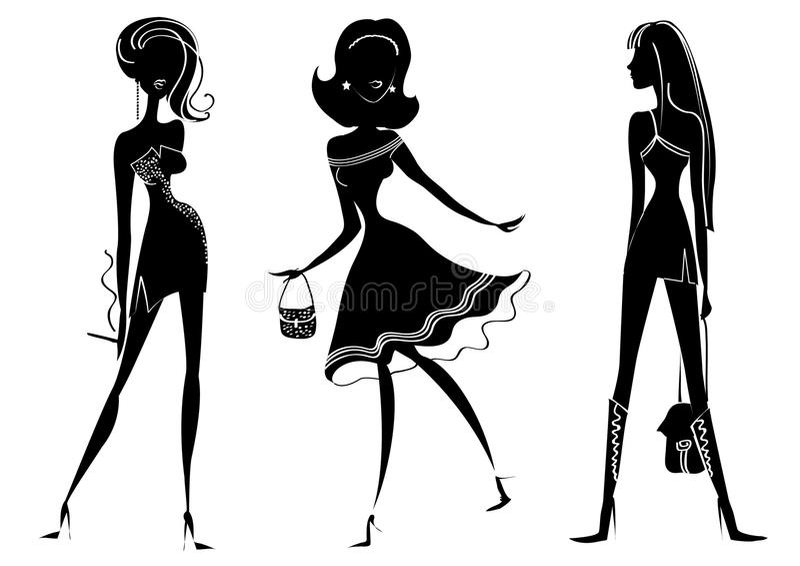 De vrouwen van de manier stock illustratie