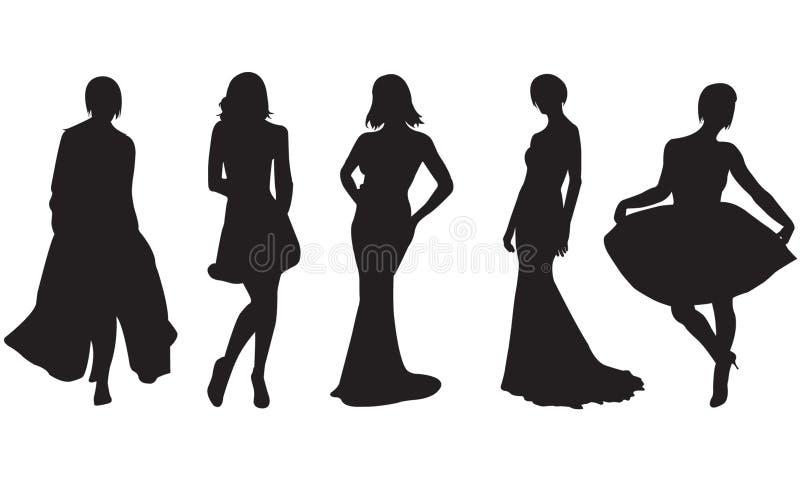 De vrouwen van de manier royalty-vrije illustratie