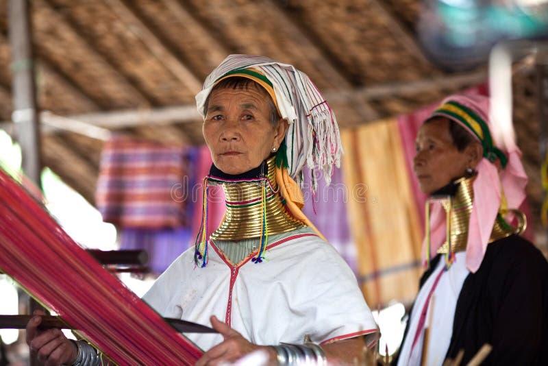 De vrouwen van de Stam van Padaung royalty-vrije stock foto