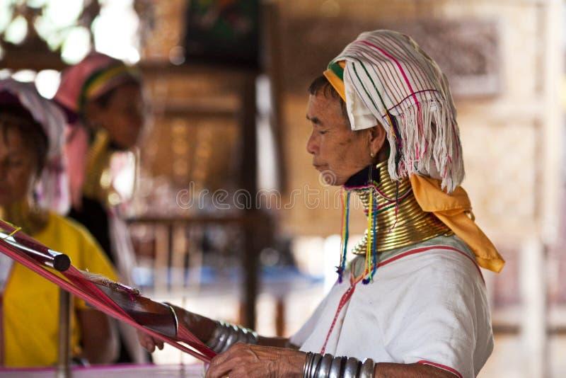 De vrouwen van de Stam van Padaung royalty-vrije stock foto's
