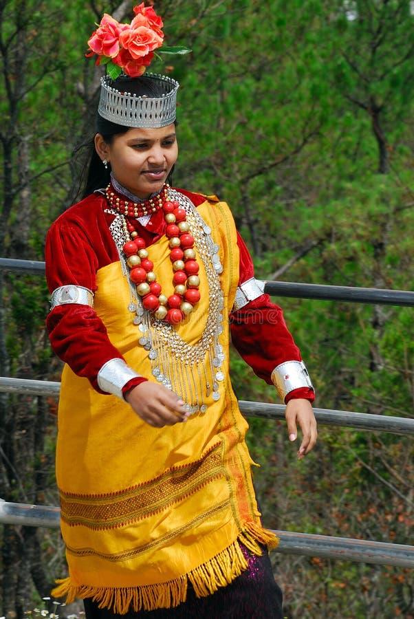 De vrouwen van het dorp in Noordoostelijk India stock afbeeldingen