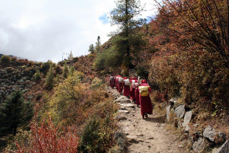 De Vrouwen van Sherpa - Nepal royalty-vrije stock afbeeldingen