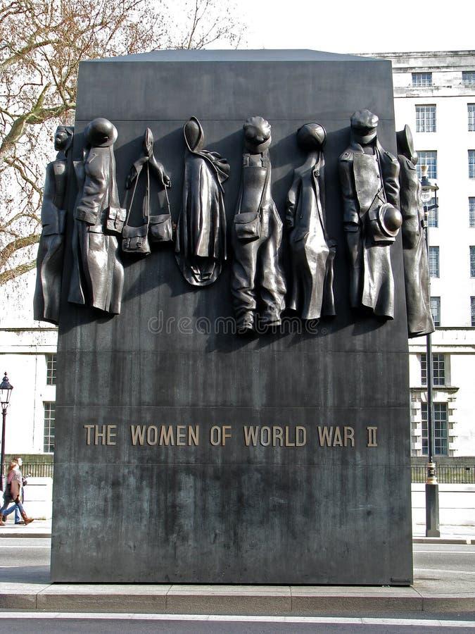 De vrouwen van Wereldoorlog II - gedenkteken royalty-vrije stock foto