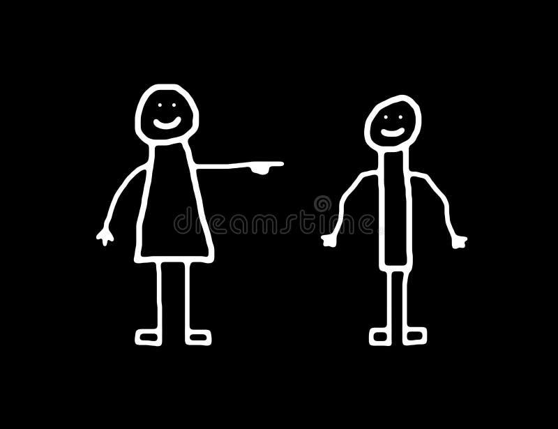 De vrouwenbw van de man vector illustratie