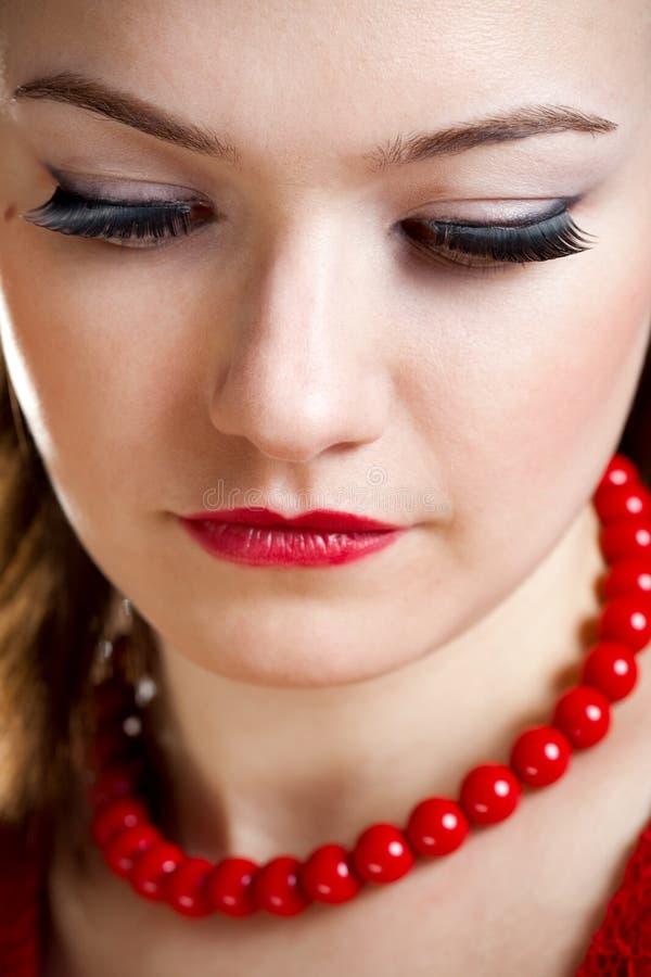 De vrouwengezicht van de close-up stock foto