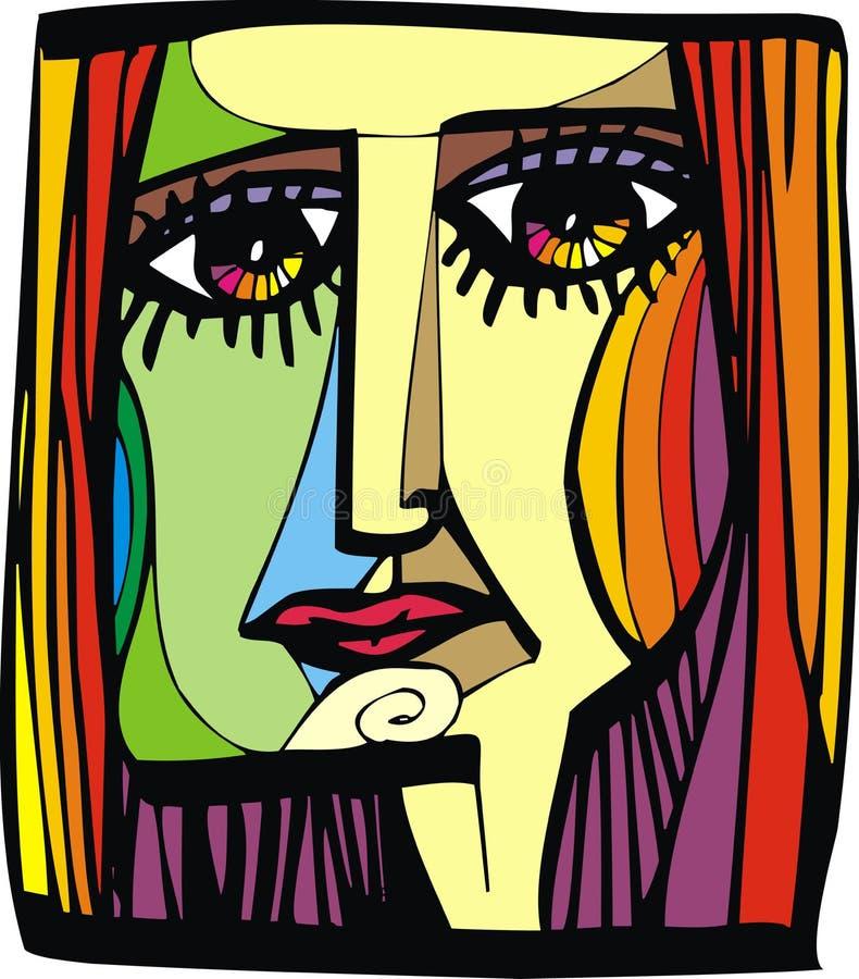 De vrouwenhoofd van Nice van mijn droom royalty-vrije illustratie