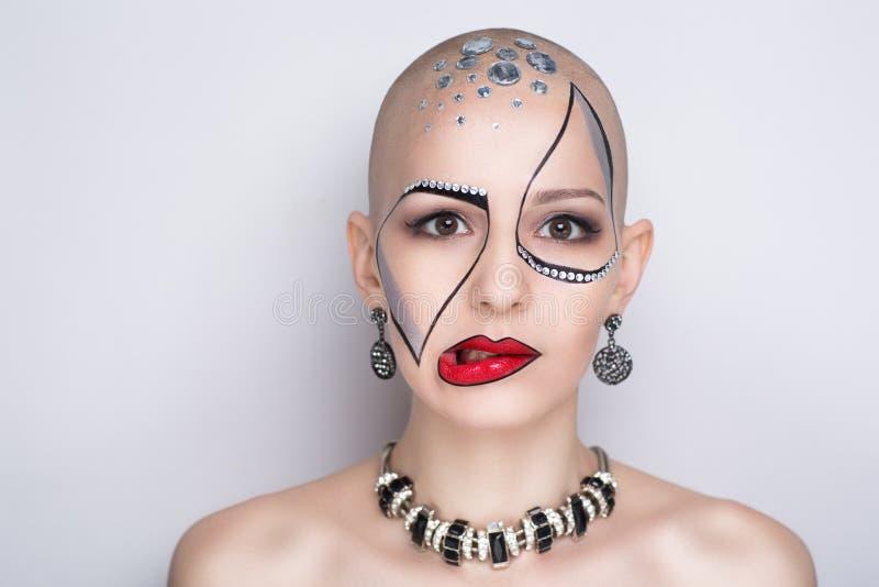 De vrouwenkunst maakt omhoog royalty-vrije stock foto
