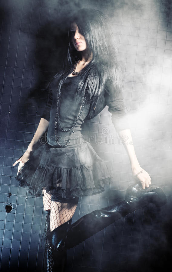 De vrouwenmanier van Goth royalty-vrije stock afbeelding