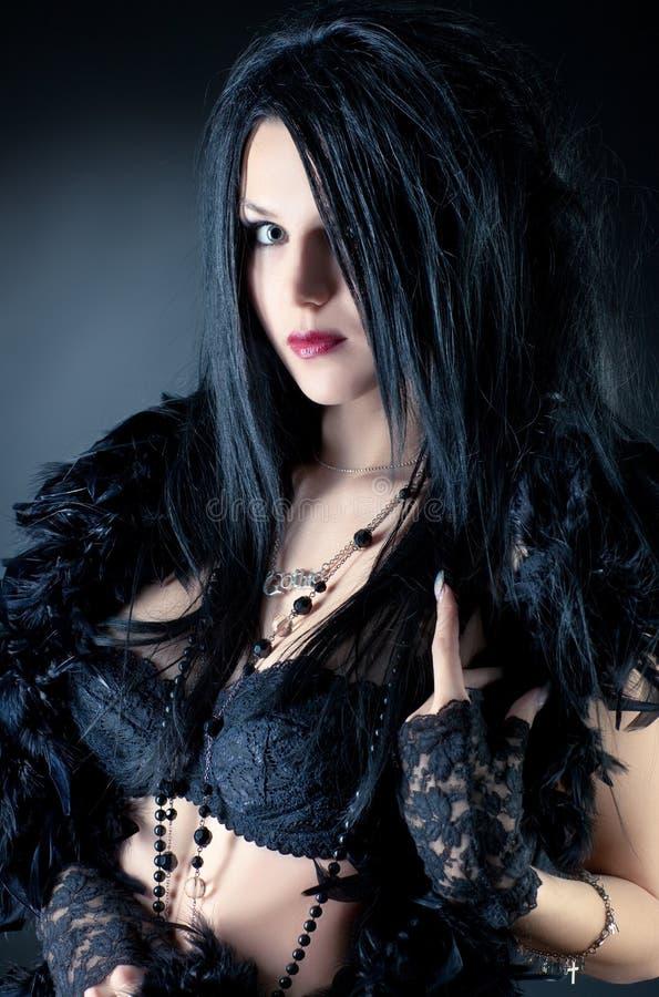 De vrouwenmanier van Goth stock foto's
