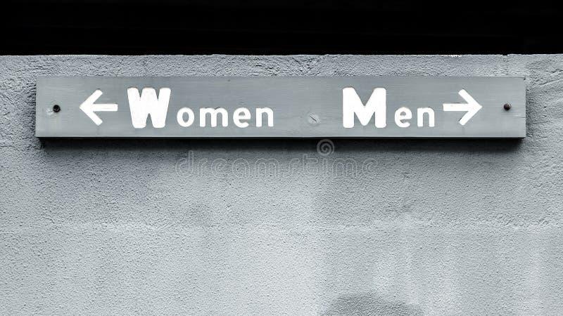 De vrouwenmannen ondertekenen stock foto's