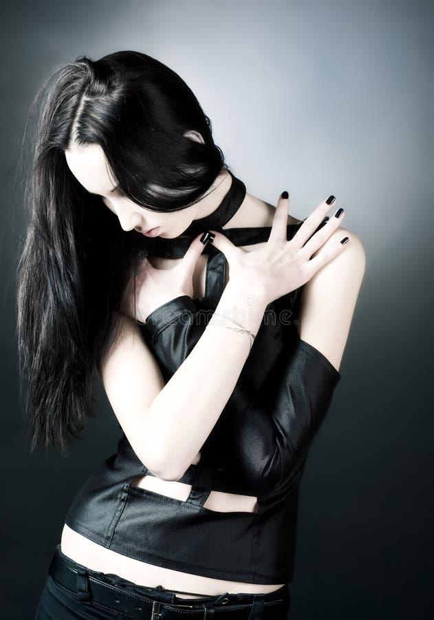 De vrouwenportret van Goth stock fotografie