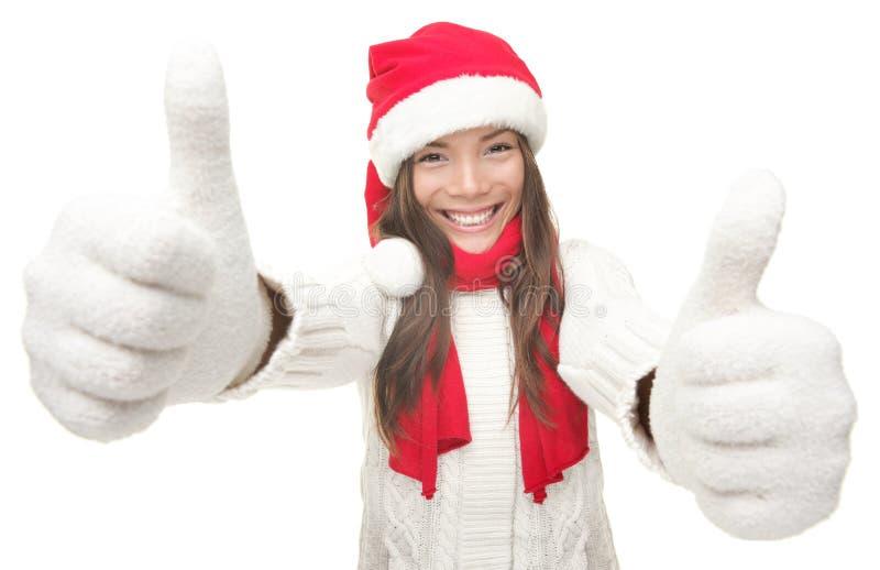 De vrouwensucces van Kerstmis stock afbeeldingen