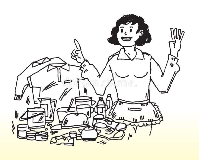 De vrouwenverantwoordelijkheden van het huis stock illustratie