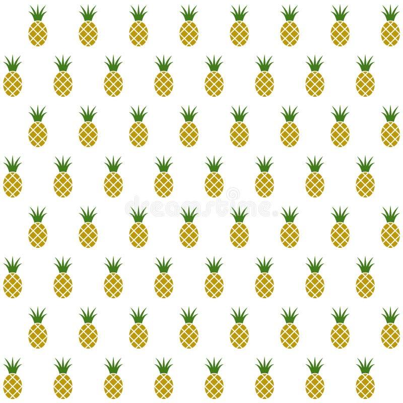 De vruchten van de steekproef naadloze ananas achtergrond stock illustratie