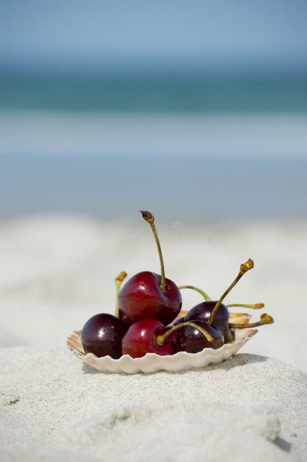 De vruchten van de zomer bij het strand royalty-vrije stock afbeelding